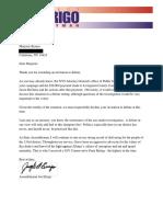 Assemblyman Joe Errigo letter