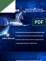 Blockchain Presentation for Chartered Accountants