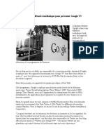 Google lance une offensive médiatique pour présenter Google TV (1)