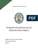 Analisis Economico de Una Planta de Ácido Adípico