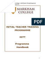 MITT Programme Handbook 2018