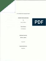 Conlang Analysis
