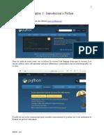 Chapitre 1 - Introduction à Python