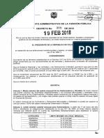 Decreto 309 de 2018 - Incremento Salarial 2018