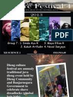 Dieng Culture Festival- Presentation English Task (Senior High School 1 Pemalang)