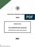 Utul 2016 Saintek 382 Masukugm