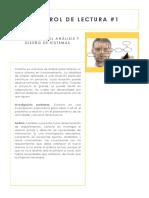 CONTROL LECTURA #1 -Método Para El Análisis y Diseño de Sistemas