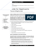 Guide for Applicants Tavern Nightclub