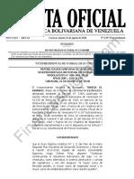Gaceta Oficial Extraordinaria 6397 (Reimpresión)