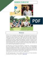 Inscrição Flor D'Já Canta Gilberto Gil -FICA 2018