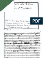Te Deum - Delalande - Autographe manuscrit