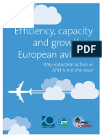 Study on Efficiency Capacity and Growth in European Aviation
