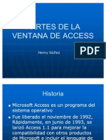 Partes de La Ventana de Access