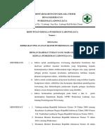 Sk Pelayanan Klinis Pkm Ladongi Jaya 2018