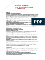 Ds 024-2016-Em - Seguridad y Salud Ocupacional en Minería