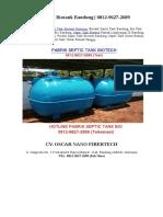 Harga Septic Tank Biotank Bandung | 0812-9627-2689