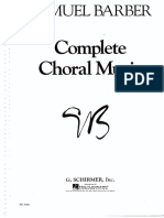 Barber Choral Music