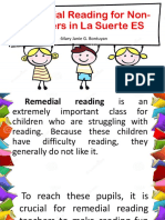 Remedial Reading Sample in a school