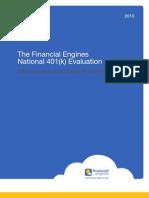 2010 National 401k Evaluation