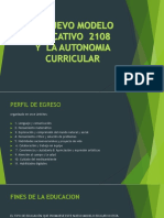 El Nuevo Modelo Educativo 2108
