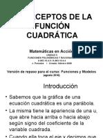 Interceptos x de La Función Cuadrática Grado 11 BLANCO Y NEGRO
