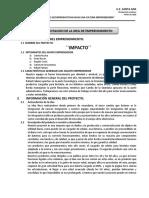 Formulario 1(Presentación Del Proyecto)