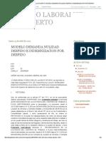 Abogado Laboralista - Luis Huerto_ Modelo Demanda Nulidad Despido e Indemnizacion Por Despido