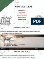 1. Hukum Gas Ideal Kel 4