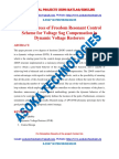 A Two Degrees of Freedom Resonant Control Scheme for Voltage Sag Compensation in Dynamic Voltage Restorers