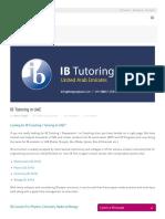 IB Tutoring in UAE - Testprepkart