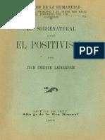Principios de Filosofía Positiva - Augusto Comte