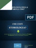 Etimologia Della Parola 'Dio'