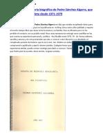 Reseña de la memoria biográfica de Pedro Sánchez Algarra