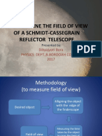 To Determine the Field of View of a Schmidt-cassegrain Reflector Telescope