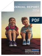 Nordic Waterproofing Holding Annual Report 2016