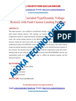 Multilevel Cascaded-Type Dynamic Voltage Restorer with Fault Current Limiting Function