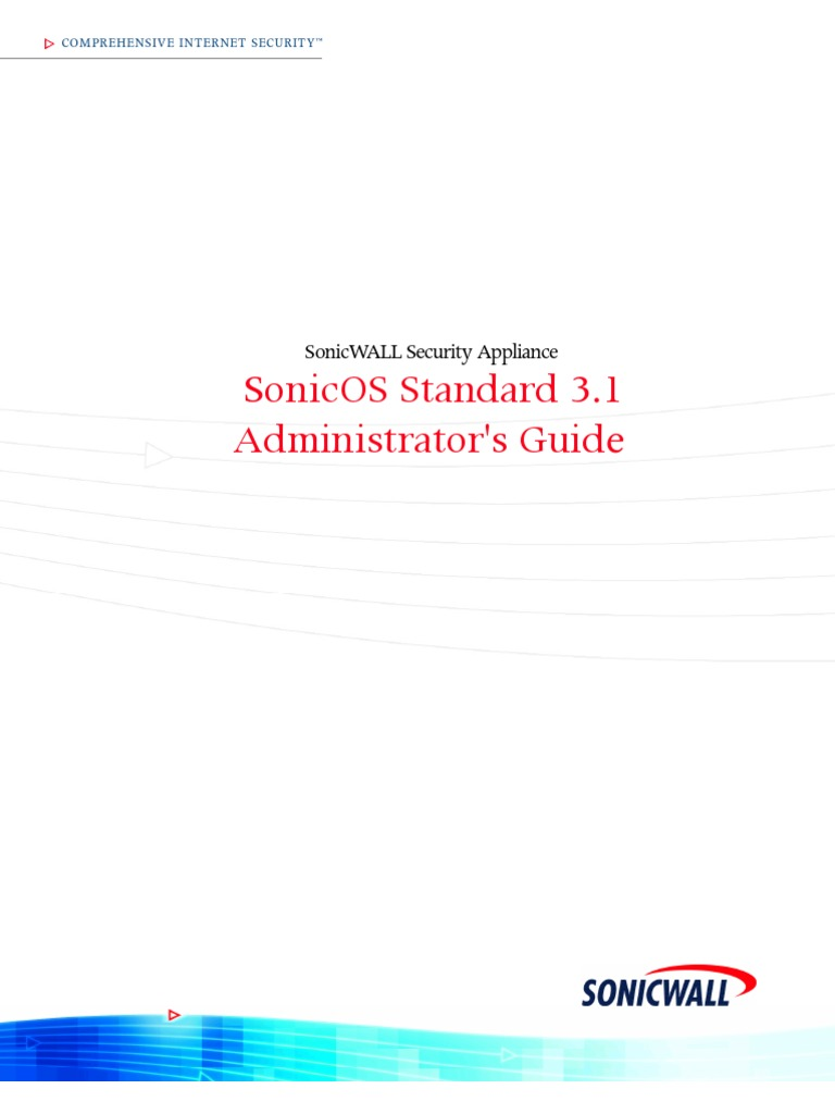SonicWALL SonicOS Standard 3 1 Administrators Guide | Proxy