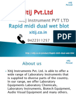 Rapid midi dual wet blot | xitij instrument pvt ltd