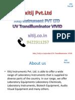 UV Transilluminator VIVID|xitij instrument pvt ltd