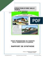 A Interessant Model Rapport_Mensuel.analyse Et Suivi Travaux _Exemple Salle Omnisports _ KNAB 30.05.2015