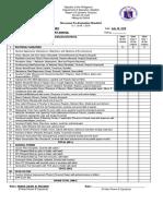 2017 2018 Classroom Evaluation Form