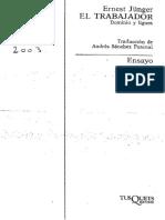 Junger, Ernst. El trabajador.pdf
