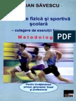 SAVULESCU I. [Educatie Fizica si Sportiva scolara - culegere de exercitii fizice] - Matei Virgil.pdf
