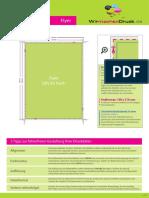 Flyer Din a5 (14 8 Cm x 21 0 Cm) Einseitig Bedruckt 1