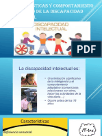 Caracteristicas y Comportamiento Psicológico de La Discapacidad Intelectual