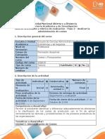Guía de Actividades y Rúbrica de Evaluación - Paso 2 - Análisis de La Administración de Costos