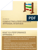 Conducting a Performance Appraisal Interview