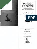 ABRAMOWSI  prologo maneras de querer en las relaciones pedagogicas.pdf