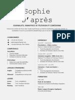 Modèle CV - Tutoriel 1