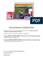Literature of Rajasthan